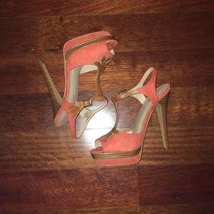 JustFab platform stiletto open-toed shoes